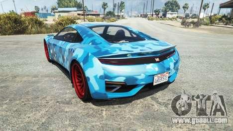 GTA 5 Dinka Jester (Racecar) Camo Blue rear left side view