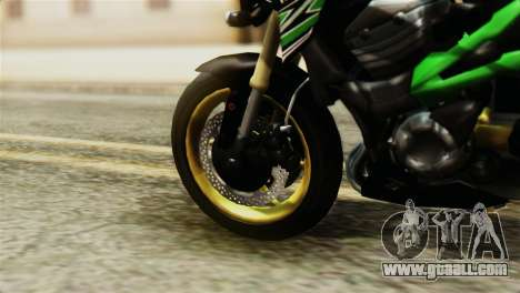 Kawasaki Z800 Modified for GTA San Andreas back left view