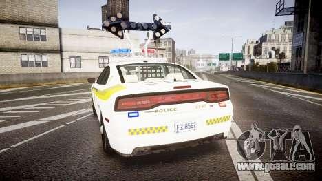 Dodge Charger Surete Du Quebec [ELS] for GTA 4 back left view