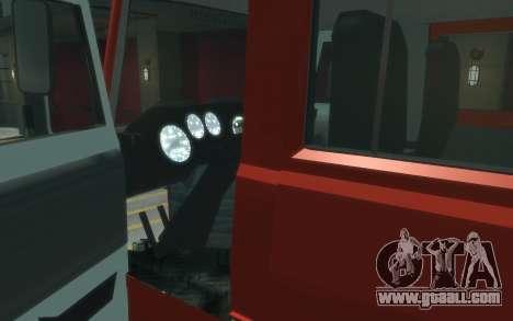 MAZ 533702 of EMERCOM of Russia for GTA 4 back view