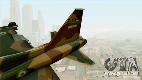 Northrop F-5ES IRIAF for GTA San Andreas back left view