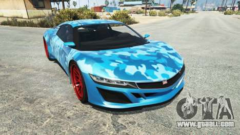 Dinka Jester (Racecar) Camo Blue for GTA 5