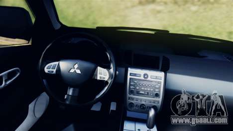 Mitsubishi Pajero 2014 Sport Dakar Offroad for GTA San Andreas back left view