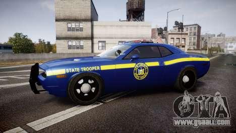 Dodge Challenger NYSP [ELS] for GTA 4 left view