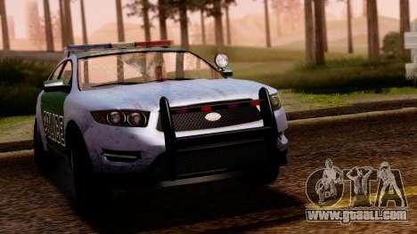 GTA 5 Vapid Police Interceptor v2 SA Style for GTA San Andreas back left view