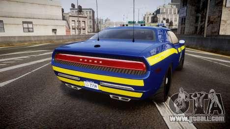 Dodge Challenger NYSP [ELS] for GTA 4 back left view
