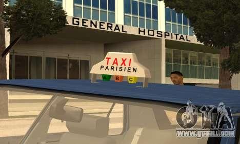 Renault 11 TXE Taxi for GTA San Andreas engine