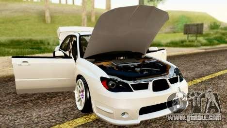 Subaru Impreza WRX STI Stance for GTA San Andreas back view