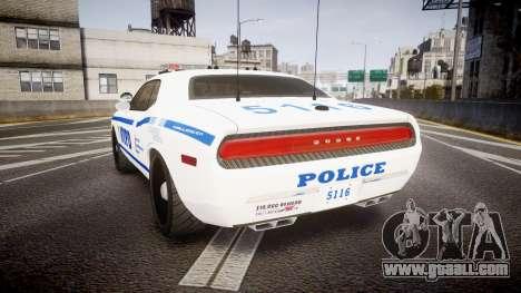 Dodge Challenger NYPD [ELS] for GTA 4 back left view