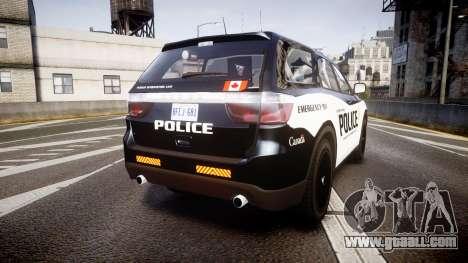 Dodge Durango Alderney Police for GTA 4 back left view