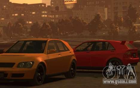 Karin Sultan Hatchback v2 for GTA 4 back left view