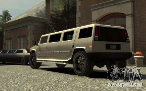 Mammoth Patriot Limousine for GTA 4 left view
