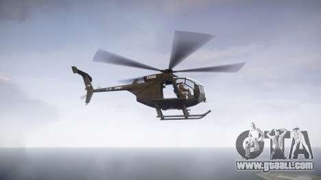 MH-6 Little Bird for GTA 4 left view