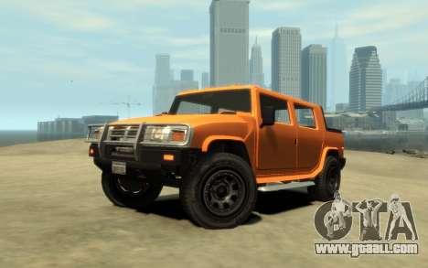 Mammoth Patriot Pickup v2 for GTA 4 back view