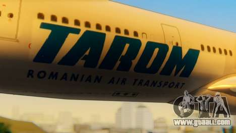 Airbus A330 TAROM Romania for GTA San Andreas back view