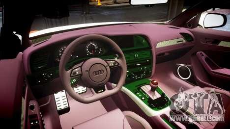 Audi S4 Avant Belgian Police [ELS] orange for GTA 4 inner view