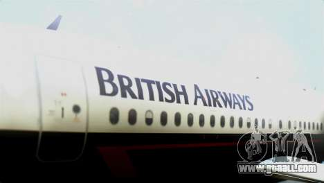 Airbus A320-200 British Airways for GTA San Andreas back view