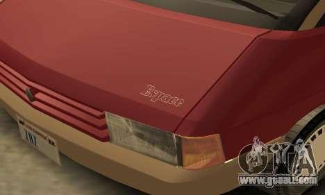 Renault Espace 2000 GTS for GTA San Andreas interior