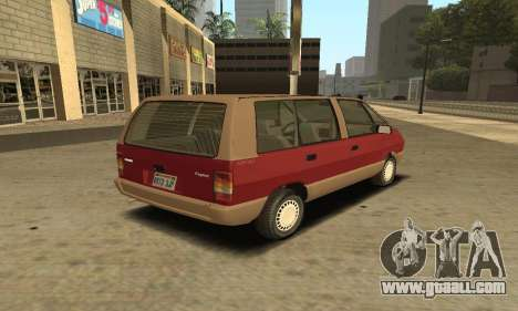 Renault Espace 2000 GTS for GTA San Andreas inner view