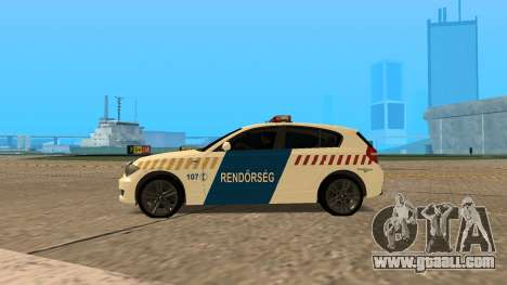 BMW 120i E87 Hungarian Police for GTA San Andreas left view