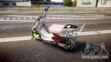 Yamaha Aerox Stunt for GTA 4 left view