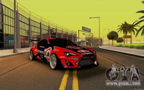 Toyota GT86 ZeroZver for GTA San Andreas