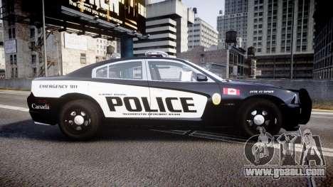 Dodge Charger Alderney Police for GTA 4 left view