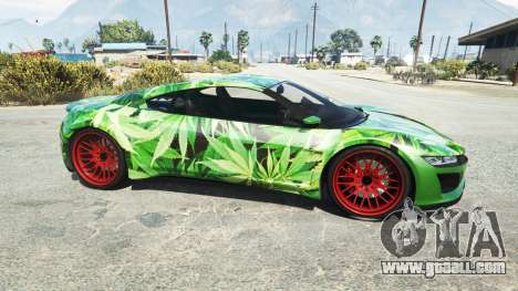 GTA 5 Dinka Jester (Racecar) Cannabis left side view