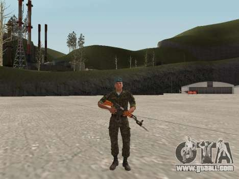 The airborne soldier of Ukraine for GTA San Andreas