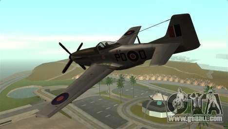 P-51D Mustang for GTA San Andreas left view