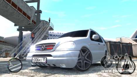 Mercedes-Benz ML 55 AMG for GTA 4 back left view