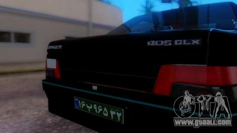 Peugeot 405 GLX Police for GTA San Andreas back view