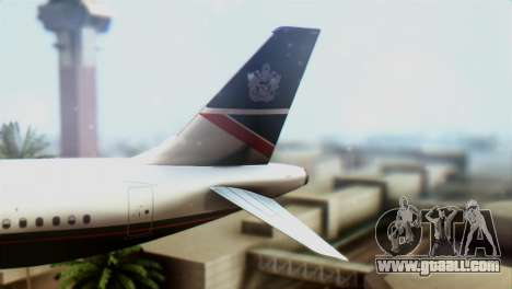 Airbus A320-200 British Airways for GTA San Andreas back left view