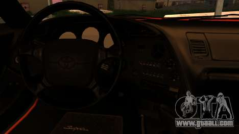 Toyota Supra for GTA San Andreas inner view