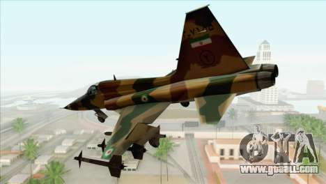 Northrop F-5ES IRIAF for GTA San Andreas left view