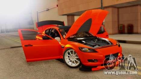 Mazda RX8 Drifter for GTA San Andreas back view