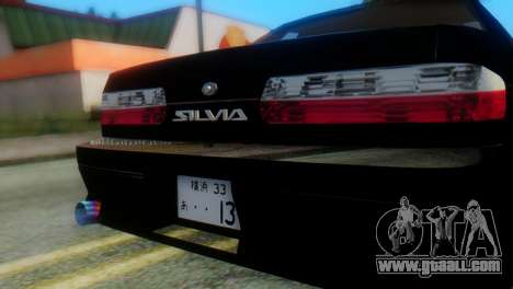 Nissan Silvia S13 Onevia for GTA San Andreas back view