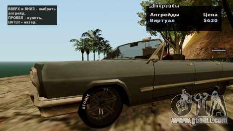 Wheels from GTA 5 v2 for GTA San Andreas fifth screenshot