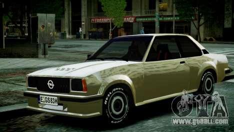 Opel Ascona B for GTA 4 right view