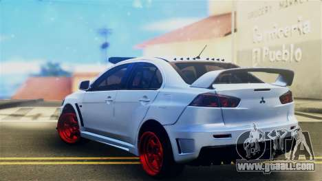 Mitsubishi Lancer Evolution X for GTA San Andreas left view