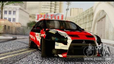 Mitsubishi Lancer Evo X Nunes for GTA San Andreas
