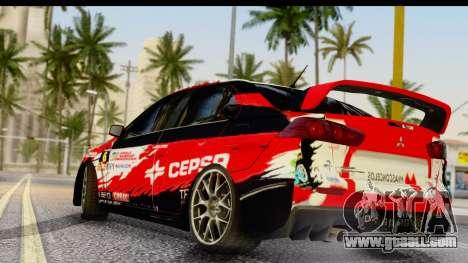 Mitsubishi Lancer Evo X Nunes for GTA San Andreas left view