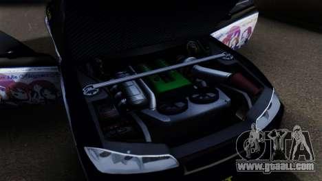 Nissan Silvia S15 K-on Itasha for GTA San Andreas back view