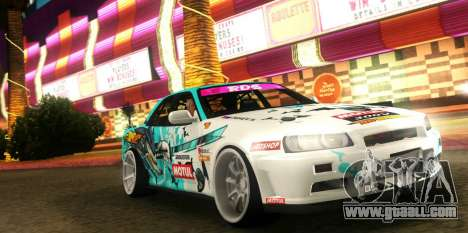 Nissan Skyline ER34 GT-SHOP for GTA San Andreas