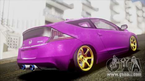 Honda CRZ Hybird Pink Cute for GTA San Andreas back left view