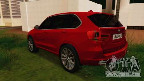 BMW X5 F15 2014 for GTA San Andreas back left view