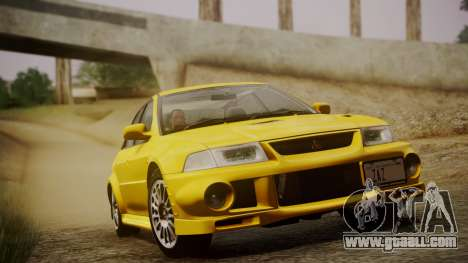 Mitsubishi Lancer Evolution VI 1999 PJ for GTA San Andreas back view