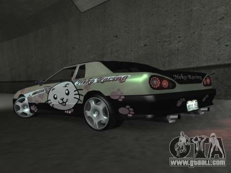 Elegy Paintjobs for GTA San Andreas inner view