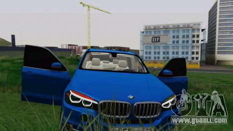 BMW X5 F15 2014 for GTA San Andreas bottom view