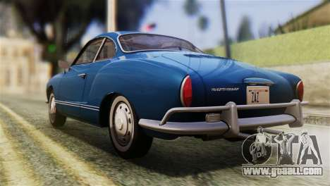 Volkswagen Karmann-Ghia Coupe (Typ 14) 1955 HQLM for GTA San Andreas left view